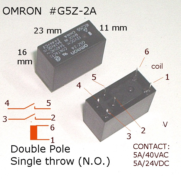 Relay Omron G5Z 2A relays, switches, push buttons